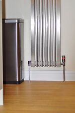 RADIATOR PIPE COVERS, BRUSHED STAINLESS STEEL EFFECT.  for 15mm pipes