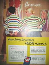 PUBLICITE DE PRESSE PERSIL SAVON MACHINE A LAVER FRENCH AD 1955