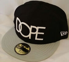 NWT NEW ERA DOPE Classic Logo clothing brand 59FIFTY size 7 1/8 fitted cap hat
