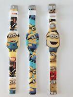 1x Boy Kids Children Minions Wrist Silicon Rubber band LED Wrist Watch Gift