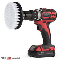 White Electric Drill Brush Attachment for Cleaning Carpet Leather Ppholstery