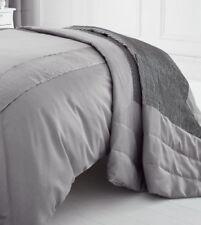 Édredons et couvre-lits gris en polyester pour salon