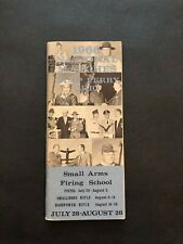 Vintage National Rifle Association Small Arms Firing School 1966 Camp Perry Ohio