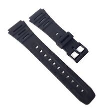 Replacement Watch Strap for Casio W-720 W720 or CA53W FT-100W W741 Black Band