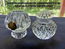50 Vintage 24% Leaded Crystal Columns Chandelier Lamp Part  Made In Germany