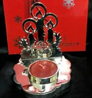 Newbridge Silverware 3 Candles Tealight Candle Holder with Candle WY102277W