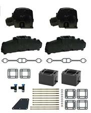 """Mercruiser Chevy Marine 5.7 350 GLM Exhaust Manifolds 3"""" Risers Elbows Spacers"""
