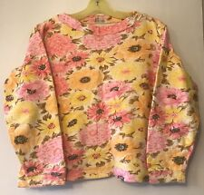 Vintage 60's 70's Tracy Tees Cream w/ Pink & Yellow Flowers