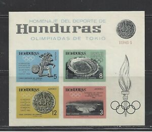 HONDURAS - C344a S/S - IMPERF - MNH - 1964 - OLYMPIC GAMES, TOKYO