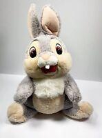 "Disney Parks Thumper Bambi Plush 16"" Grey Stuffed Animal Toy Rabbit Authentic"