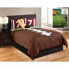 Hallmart Full Size Football Comforter Set 6 Piece Set Retail $369.99