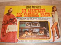 A0 Filmplakat DIE ABENTEUER DES KARDINAL BRAUN,HEINZ RÜHMANN.J BRIALY,UTA LEVKA
