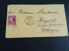 Nederland 8 op brief van Zeist naar Villingen 1871