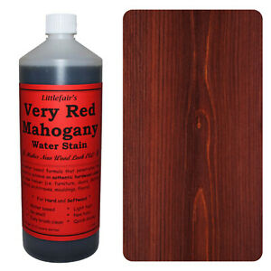 Littlefair's Water Based Eco Friendly Wood Stain / Dye - Very Red Mahogany