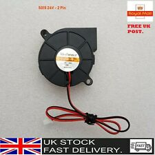 24V DC 5015 Silent Radial Turbo Blower Fan Cooling for 3D Printer Parts 2PIN UK