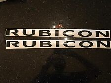 X2 Jeep Rubicon Hood Decal Sticker Vinyl COLORS Stock Size TJ JK Unlimited