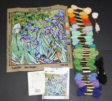 Kit canevas Royal Paris LES IRIS de Van Gogh + Laine Anchor (complet - démarré)