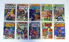 MASTER OF KUNG FU 72,73,78,106,107,114,115,117,119,125 Lot of 10 VG-VF/NM '79-83
