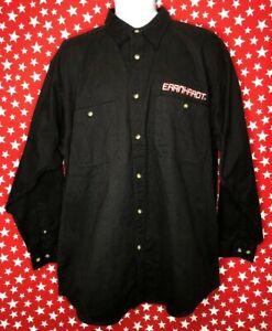 Winners Circle Dale Earnhardt Mens XL Black L/S Button Up Shirt New Nwt VTG A531