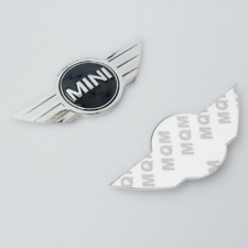☆ STICKER LOGO EMBLEME MINI COOPER R50,R52,R53 en METAL CHROME CAPOT ET COFFRE ☆