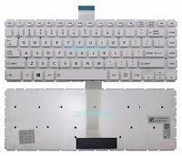 New White Toshiba Satellite L40-B  L40D-B  L40DT-B L40T-B Keyboard US No Backlit