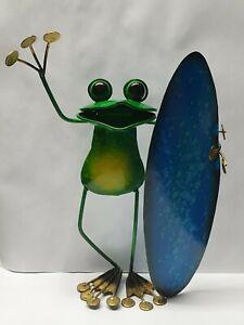 Bali Surfing Frog standing  Funny Best Gifts handmade metal Balinese  FREE POST