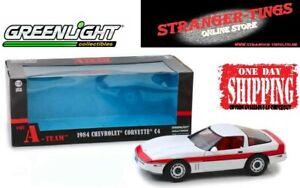 GreenLight #13532 A-Team 1983 TV Series Face 1984 Chevrolet Corvette C4 1/18