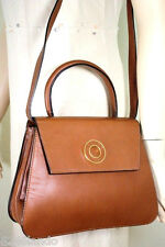 Vintage CELINE Paris Brown Leather Tote Handbag Sling Bag Italy