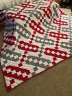 JACOB'S LADDER QUILT HAND SEWN 82X96 NEVER USED