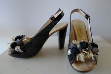 Pepe Castell 39 RRP $259 Black patent leather high heel Shoes