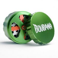 Boubana© Premium Grinder mit Klingen Ø63mm 4-teilig Metall Crusher Kräutermühle
