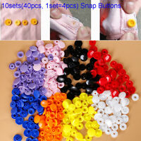 40pcs Round Resin Snap Buttons Plastic Snap Fasteners Press Studs Size T5 Caps