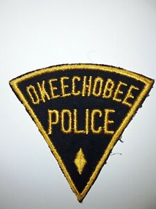 Old OKEECHOBEE FL Police patch Vintage Florida triangle