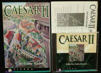 Caesar II, by Sierra, 1995  Game + Manual - Mint Disc 1 Owner !