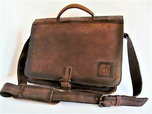 StS Ranchwear Foreman Collection Messenger Portfolio Travel Leather Bag STS30540