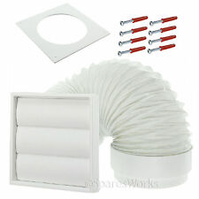 """External Vent Venting Kit for Bosch Tumble Dryer Wall Outlet 4"""" 100mm White"""