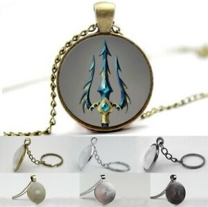 Poseidon - Neptun Trident - Photo Glass Dome Necklace, Pendant, Keyring