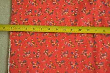 """By-the-Half-Yard, 44"""", Vintage Floral on Orangy-Red Quilter's-Cotton, VIP, M4880"""