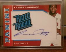 2012-13 Andre Drummond Panini Basketball Rated Rookie Auto SP #35/50 Pistons RC