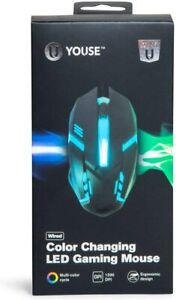 U YOUSE Wired Gaming PC Mouse - Color Changing LED NEW Sealed