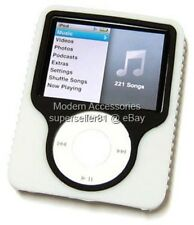WHITE Case Skin Cover for Gen3 G3 3rd Gen Apple iPod Nano