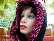 Cappello da donna sciarpa cappuccio Nero Invernale Wind MARE CALDO scialla con