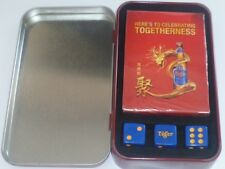 Rare ! Tiger beer Zodiac Dragon poker playing cards with dices & metal box (#36)