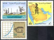 Arabia Saudita 1981 Torre Radio/Antenna Parabola satellitare/telefono/grafico 3v (n41090)