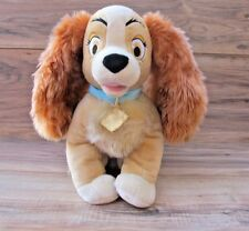 AUTHENTIC DISNEY Lady And The Tramp PLUSH LADY DOG Disney Store - EUC - 11""