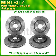 Nissan Juke 1.6DiG-T 10- Drilled Grooved Front & Rear Brake Discs