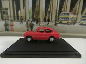 OXFORD RAILWAY SCALE FORD ANGLIA - RED SCALE 1:76