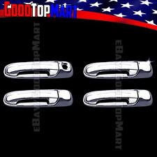 For Jeep GRAND CHEROKEE 1999-2003 2004 Chrome 4 Door Handle Covers w/out PK+KP