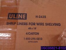 """Qty = 1 Box of 4: U Line Shelf Liners for Wire Shelving 48"""" x 18"""" P/N H-2435"""