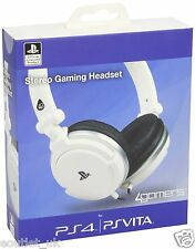 4Gamers Licensed Stereo Gaming Headset Sony Playstation 4 PS4 PS Vita WHITE NEW